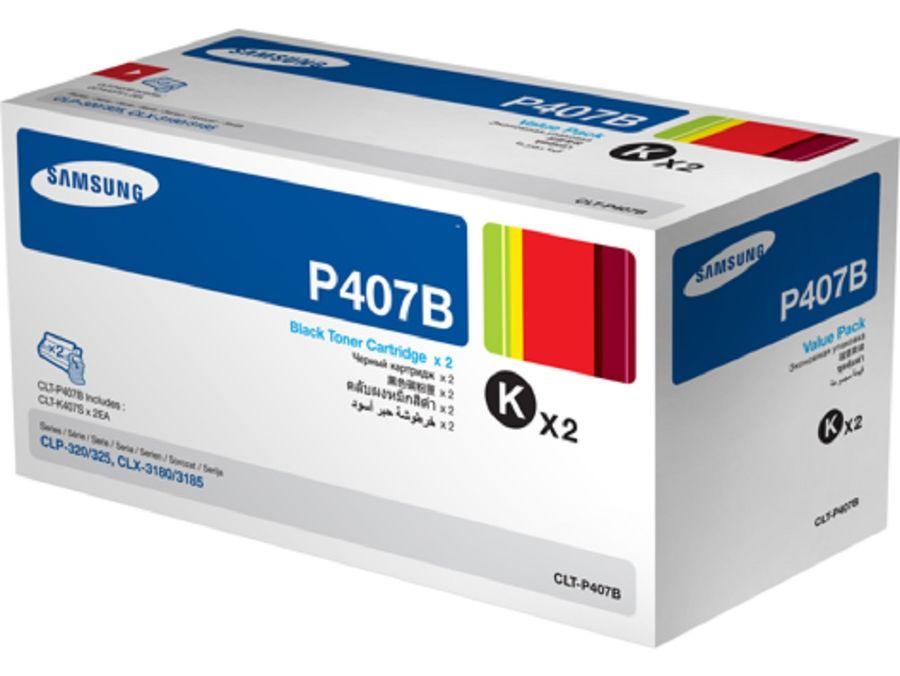Двойная упаковка картриджей SAMSUNG CLT-P407B черный [su385a]