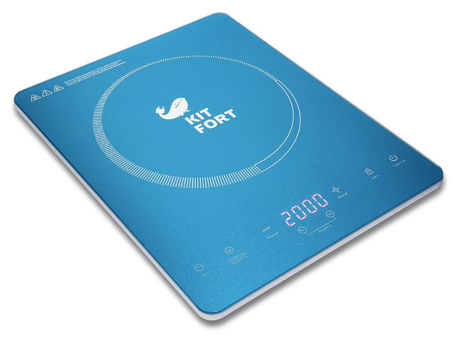 Электрическая плита KITFORT КТ-110-2,  синий