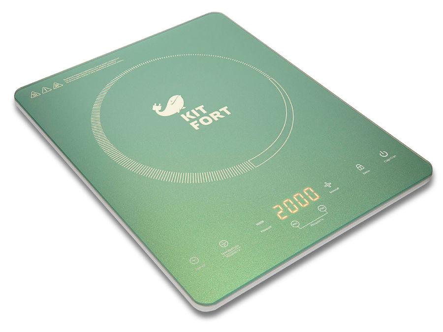 Электрическая плита KITFORT КТ-110-3,  бирюзовый