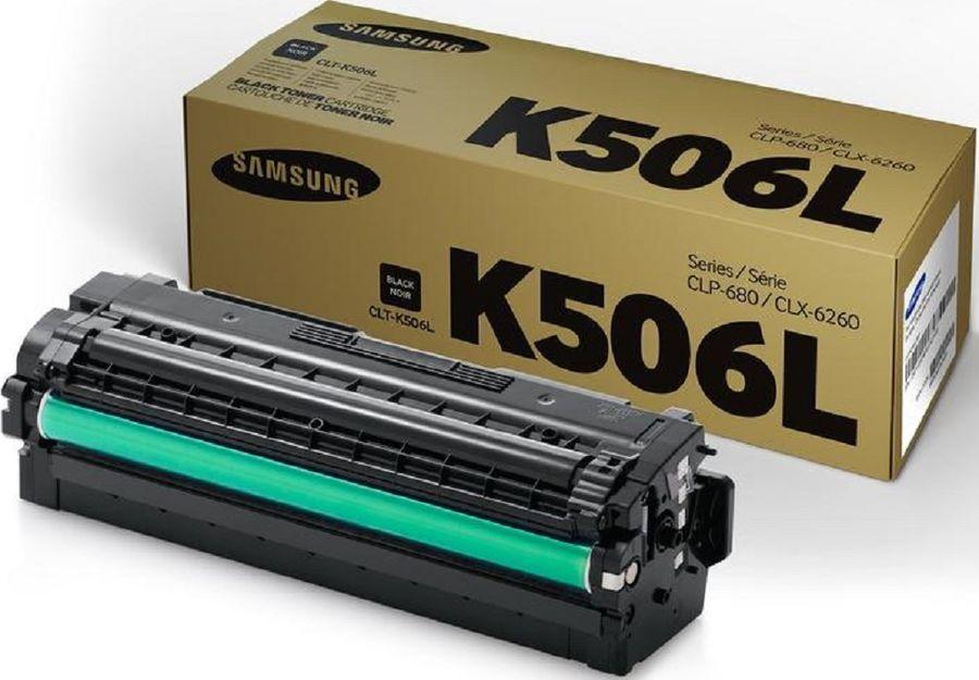 Картридж SAMSUNG CLT-K506L, черный [su173a]