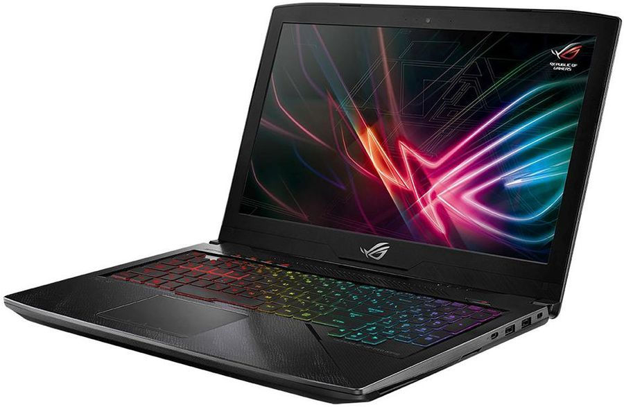 Ноутбук ASUS GL503VD-GZ164T HERO, 15.6, Intel Core i7 7700HQ 2.8ГГц, 8Гб, 1000Гб, 128Гб SSD, nVidia GeForce GTX 1050 - 4096 Мб, Windows 10, черный [90nb0gq4-m03910]Ноутбуки<br>экран: 15.6;  разрешение экрана: 1920х1080; процессор: Intel Core i7 7700HQ; частота: 2.8 ГГц (3.8 ГГц, в режиме Turbo); память: 8192 Мб, DDR4, 2400 МГц; HDD: 1000 Гб, 5400 об/мин; SSD: 128 Гб; nVidia GeForce GTX 1050 - 4096 Мб; WiFi;  Bluetooth; HDMI; WEB-камера; Windows 10<br>