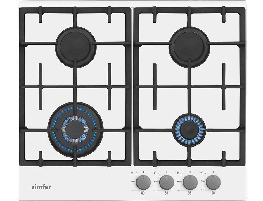 Варочная панель SIMFER H60H40W511,  независимая,  стекло белое