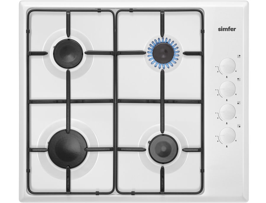 Варочная панель SIMFER H60Q40W411,  независимая,  белый