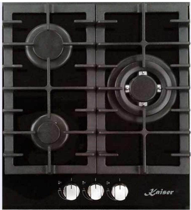 Варочная панель KAISER KCG 4380 Turbo,  независимая,  черный