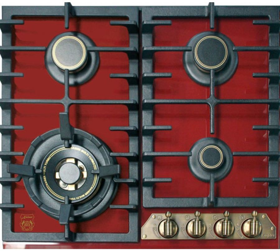 Варочная панель KAISER KCG 6335 RotEm Turbo,  независимая,  красный