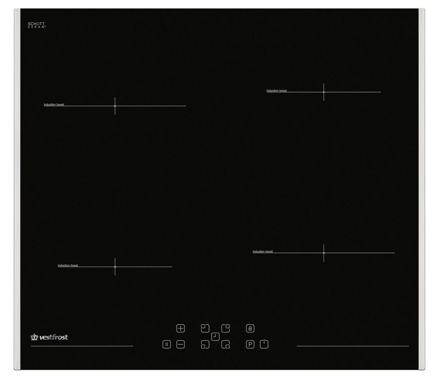 Варочная панель VESTFROST VFIND 60 HL,  индукционная,  независимая,  черный