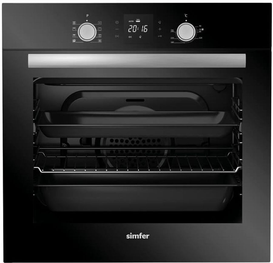 Духовой шкаф SIMFER B 6ES 68011,  черный