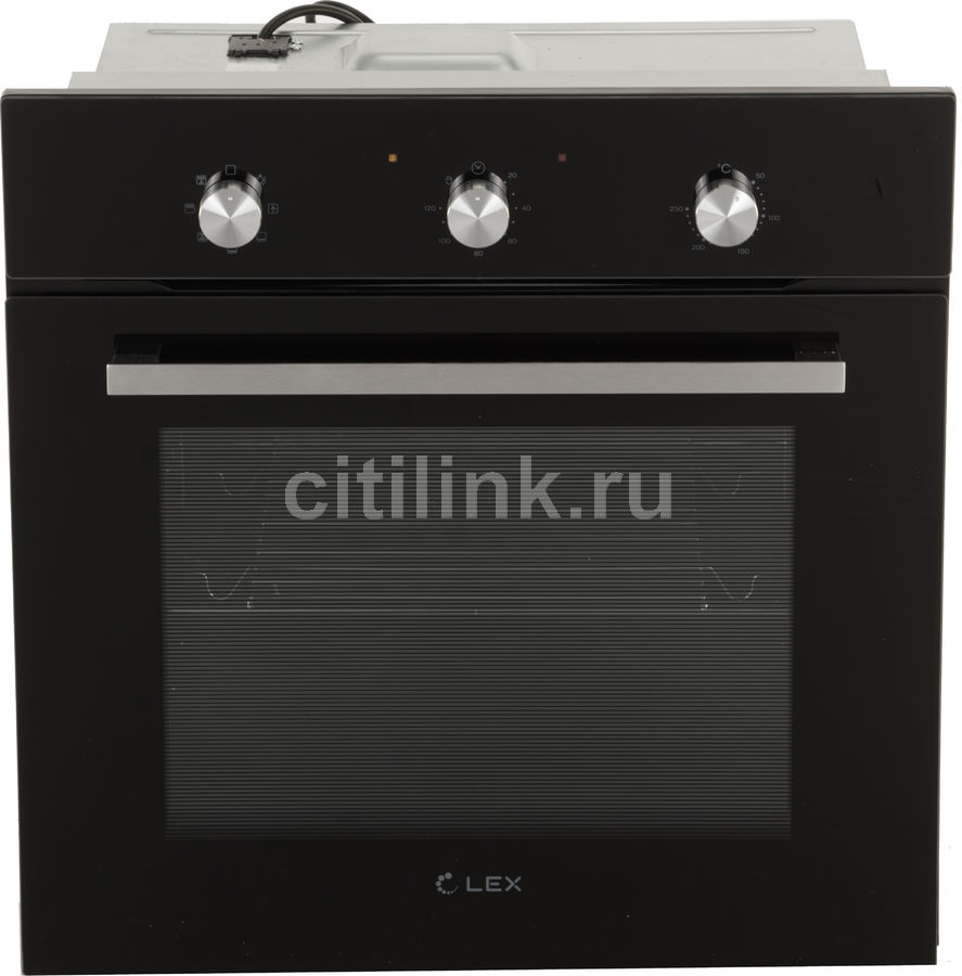 Духовой шкаф LEX EDM 070 BL,  стекло черное