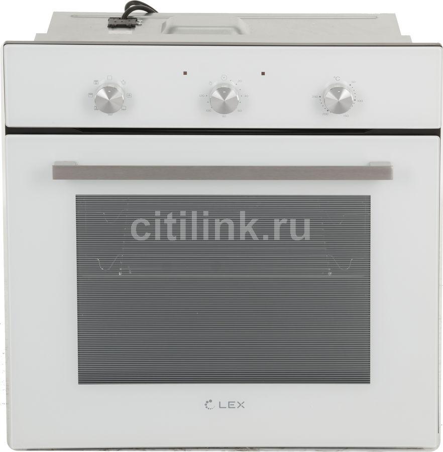 Духовой шкаф LEX EDM 070 WH,  стекло белое