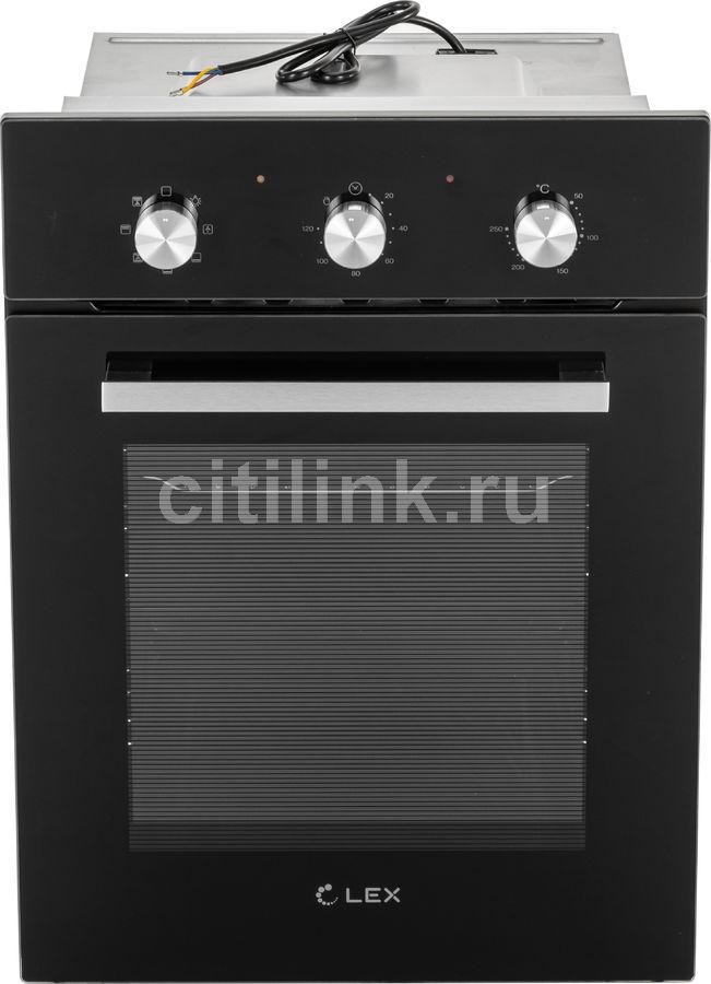 Духовой шкаф LEX EDM 4570 BL,  стекло черное