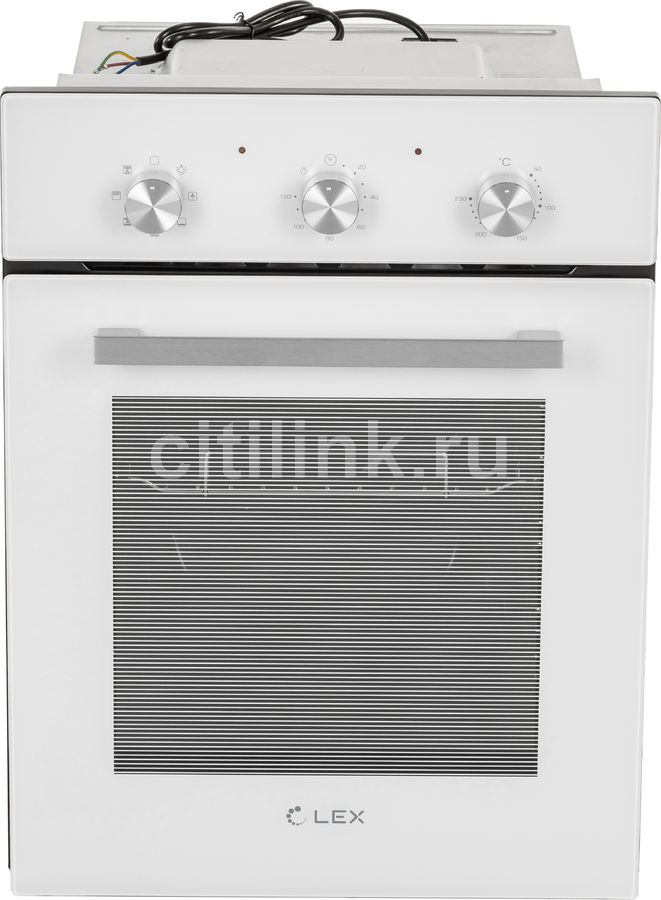 Духовой шкаф LEX EDM 4570 WH,  стекло белое