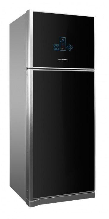 Холодильник VESTFROST VF 590 UHS,  двухкамерный, черное стекло