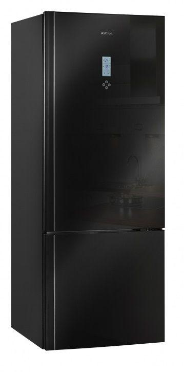Холодильник VESTFROST VF 566 ESBL,  двухкамерный,  черное стекло
