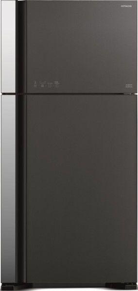Холодильник HITACHI R-VG 662 PU3 GGR,  двухкамерный, графитовое стекло