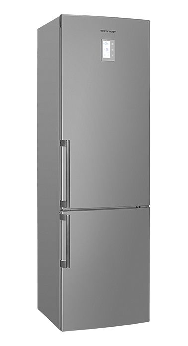 Холодильник VESTFROST VF 3863 X,  двухкамерный, нержавеющая сталь