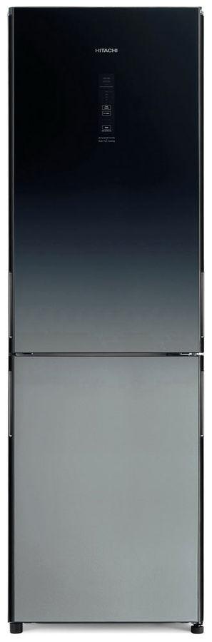Холодильник HITACHI R-BG410 PU6X XGR,  двухкамерный, градиент серого стекло