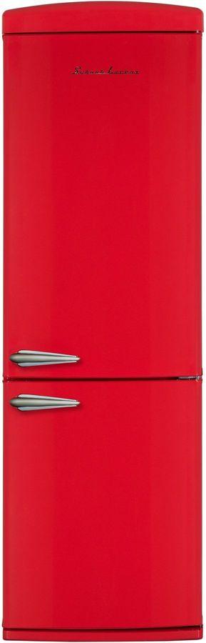 Холодильник SCHAUB LORENZ SLUS335R2,  двухкамерный, красный
