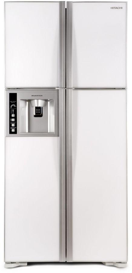 Холодильник HITACHI R-W 662 PU3 GPW,  двухкамерный, белое стекло