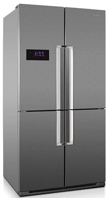 Холодильник VESTFROST VF 910 X,  трехкамерный, нержавеющая сталь