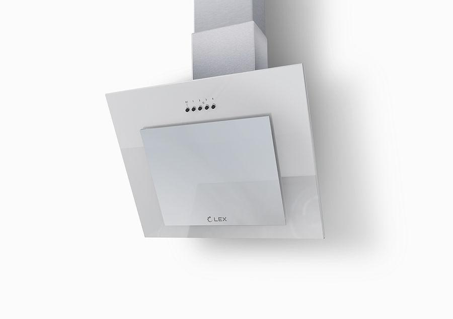 Вытяжка каминная Lex MINI 500 WH белый управление: кнопочное (1 мотор)