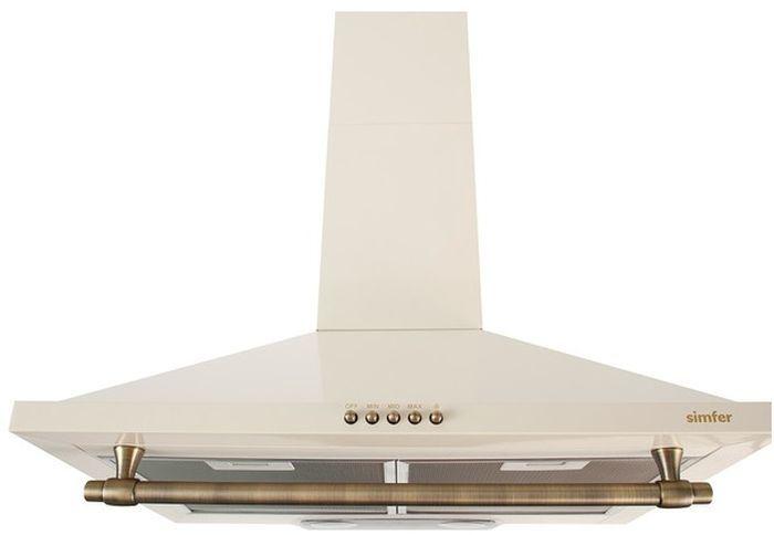 Вытяжка каминная Simfer 8665 SM бежевый управление: кнопочное (1 мотор)