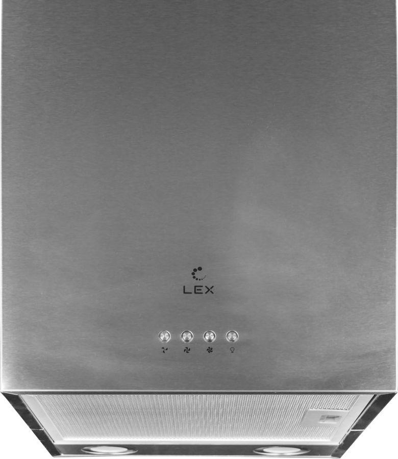 Вытяжка каминная Lex Tubo Quattro Isola нержавеющая сталь управление: кнопочное (1 мотор)