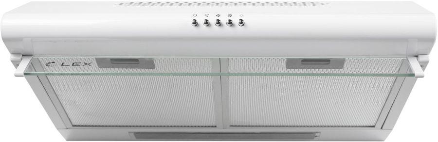 Вытяжка козырьковая Lex SIMPLE 600 белый управление: кнопочное (1 мотор)