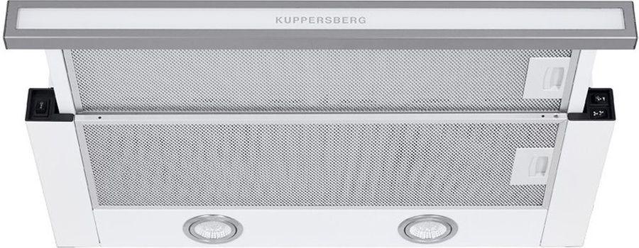 Вытяжка встраиваемая Kuppersberg SLIMLUX II 60 BGL белый управление: кнопочное (1 мотор)