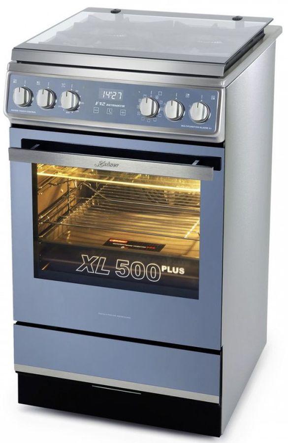 Газовая плита KAISER HGE 52508 KR,  электрическая духовка,  серый