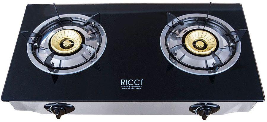 Плита Газовая Ricci RGH-712 черный закаленное стекло (настольная)