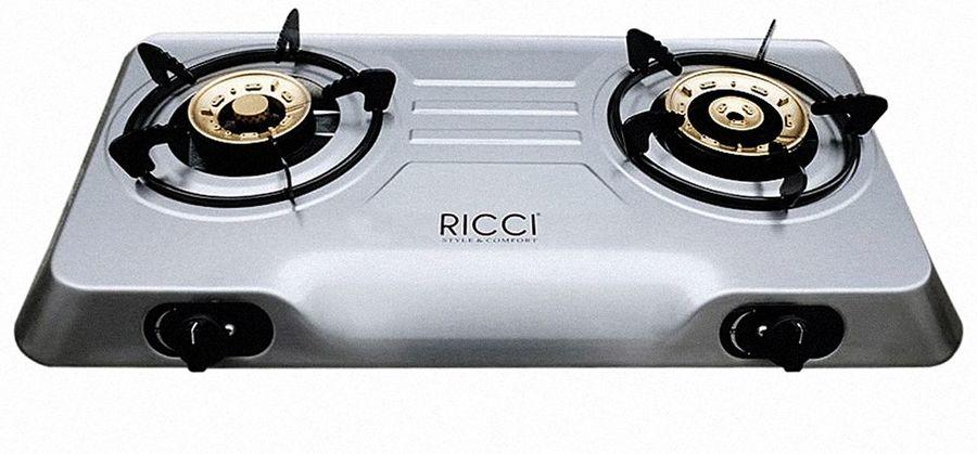 Плита Газовая Ricci RGH-702C нержавеющая сталь нержавеющая сталь (настольная)