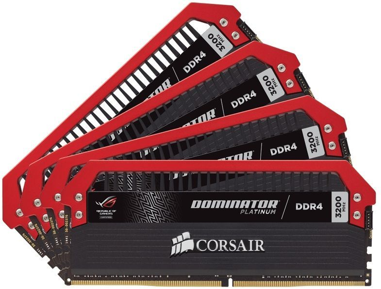 Модуль памяти CORSAIR DOMINATOR PLATINUM CMD32GX4M4C3200C16 DDR4 -  4x 8Гб 3200, DIMM,  Ret