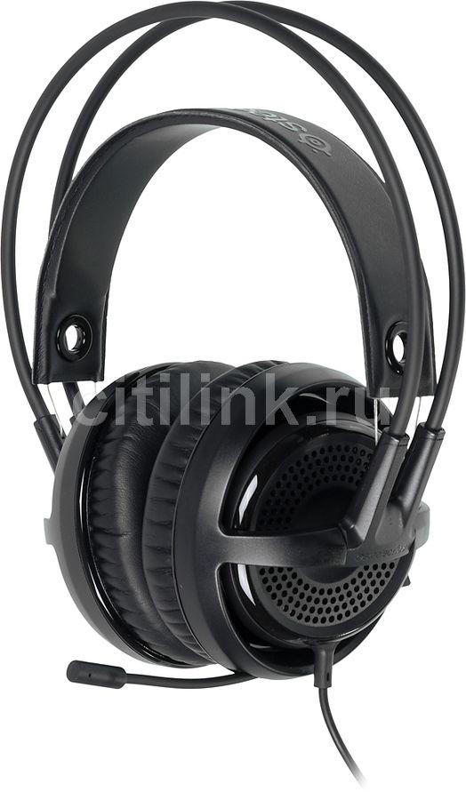 Наушники с микрофоном STEELSERIES Siberia P300,  мониторы, черный  [61359]