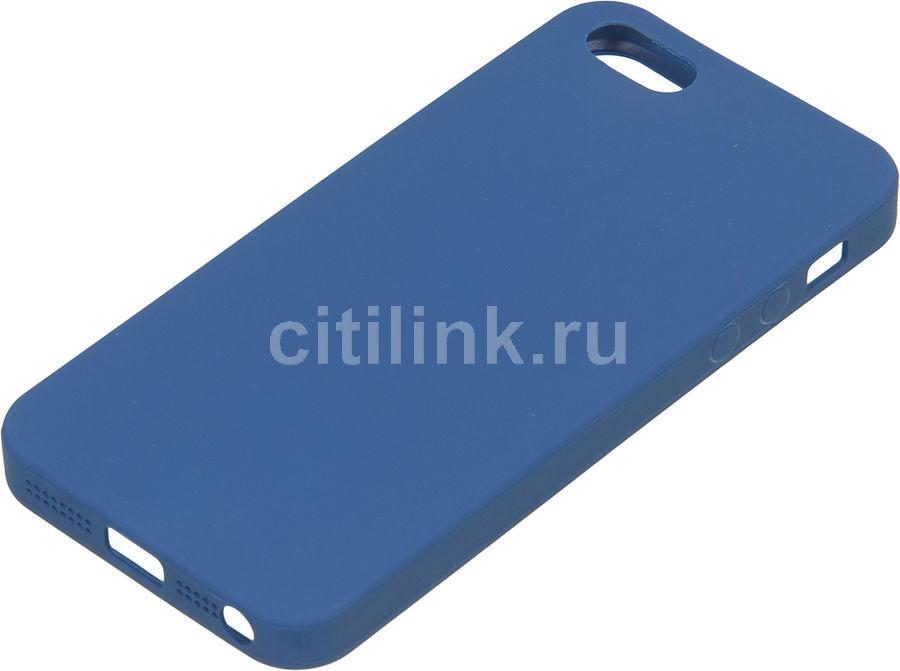 Чехол (клип-кейс) DEPPA Anycase, для Apple iPhone 5/5s/SE, синий [140020]