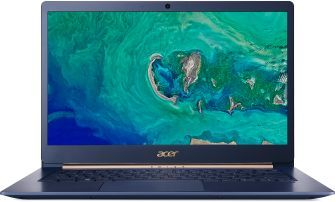 Ультрабук ACER Swift 5 SF514-52T-88W1, 14, Intel Core i7 8550U 1.8ГГц, 16Гб, 512Гб SSD, Intel HD Graphics 620, Windows 10, NX.GTMER.005, синийНоутбуки<br>экран: 14; cенсорный экран; разрешение экрана: 1920х1080; тип матрицы: IPS; процессор: Intel Core i7 8550U; частота: 1.8 ГГц (4.0 ГГц, в режиме Turbo); память: 16384 Мб, LPDDR3; SSD: 512 Гб; Intel HD Graphics 620; WiFi;  Bluetooth; HDMI; WEB-камера; Windows 10<br><br>Линейка: Swift 5