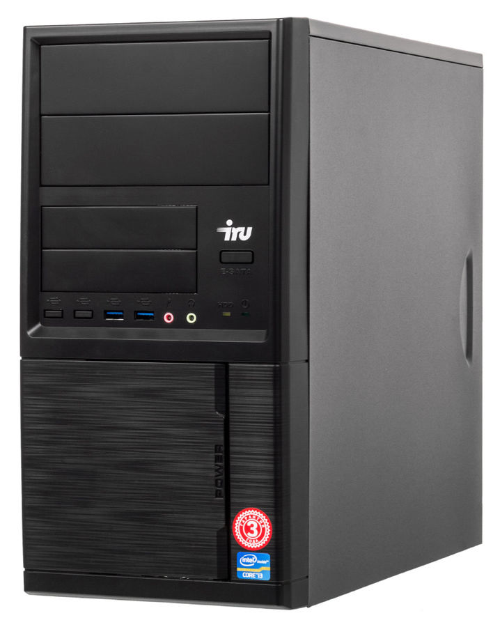 Компьютер  IRU Corp 312,  Intel  Celeron  G3900,  DDR4 4Гб, 60Гб(SSD),  Intel HD Graphics 510,  Free DOS,  черный [1024471]
