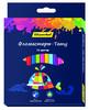 Фломастеры Silwerhof 877070-10 Цветландия круглый пиш. наконечник Вентилируемый тату 10цв. коробка с вид 1