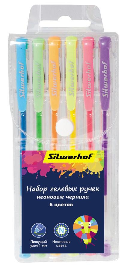 Набор гелевых ручек Silwerhof 026162-06 Цветландия 1.0мм 6цв. блист.европод.