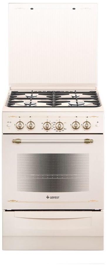 Газовая плита GEFEST ПГ 6100-02 0182,  газовая духовка,  слоновая кость