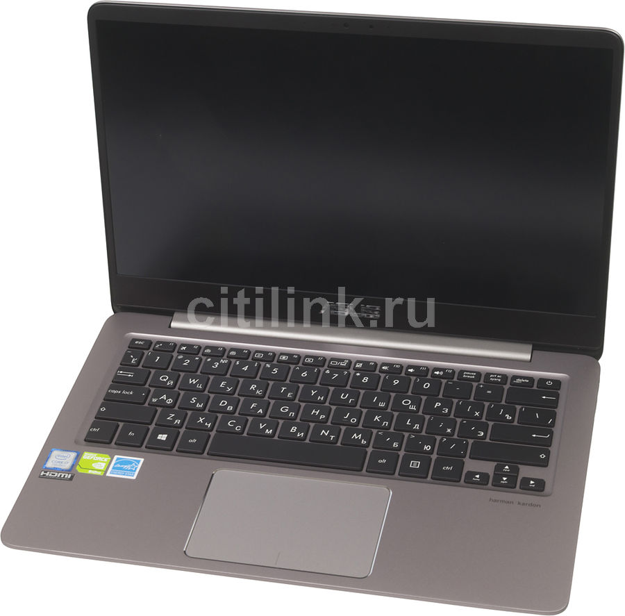 Ноутбук ASUS Zenbook UX410UQ-GV045R, 14, Intel Core i7 7500U 2.7ГГц, 16Гб, 1000Гб, 256Гб SSD, nVidia GeForce 940MX - 2048 Мб, Windows 10 Professional, 90NB0DK1-M04340, серый asus asus zenbook ux303ub 13 3 4гб ssd wi fi bluetooth intel core i5