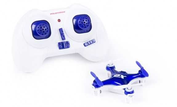 Квадрокоптер PILOTAGE Nano-X2 RTF без камеры,  синий [rc17302]