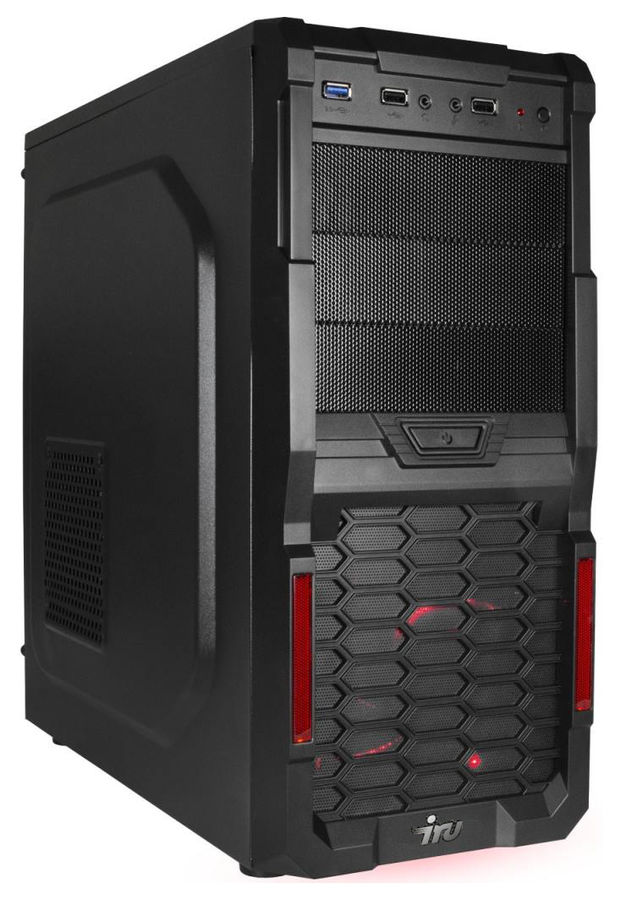 Компьютер  IRU Corp 717,  Intel  Core i7  7700,  DDR4 16Гб, 2Тб,  NVIDIA GeForce GTX 1050 - 2048 Мб,  Free DOS,  черный [1025083]