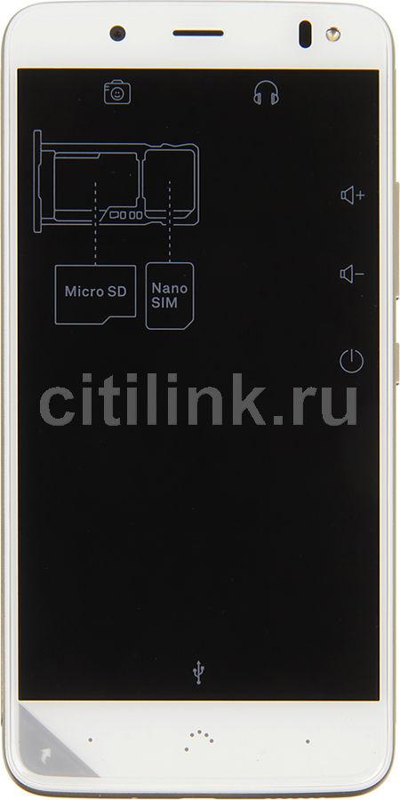 Смартфон BQ Aquaris V 16Gb,  белый/золотистый