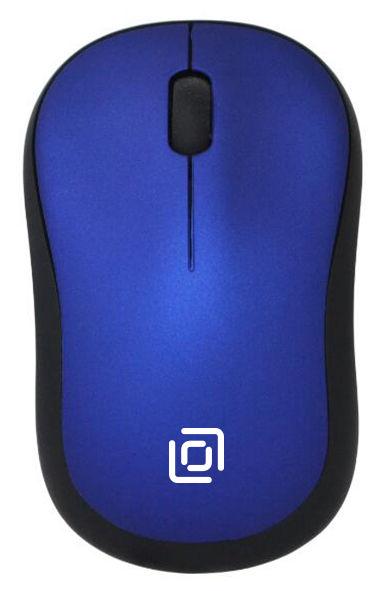 Мышь OKLICK 655MW оптическая беспроводная USB, черный и синий