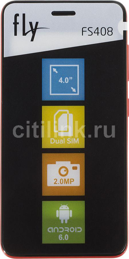 Смартфон FLY Stratus 8 FS408,  красный