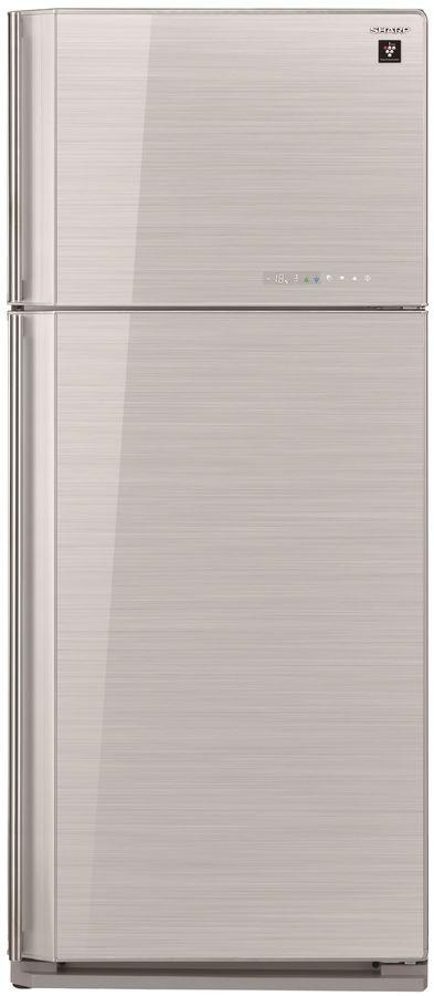 Холодильник SHARP SJ-GV58ASL,  двухкамерный,  серебристое стекло