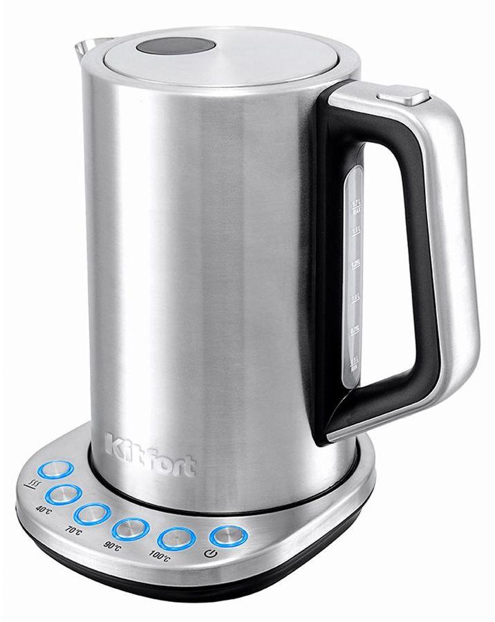 Чайник электрический KITFORT КТ-621, 2200Вт, серебристый