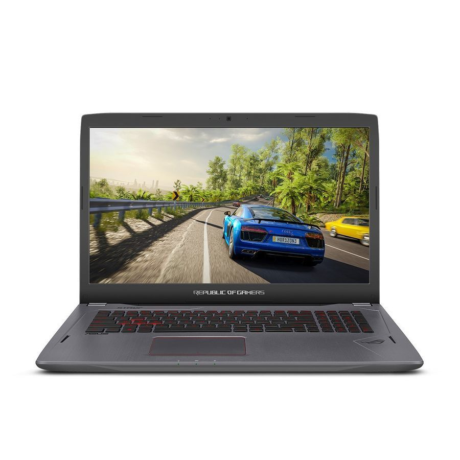 Ноутбук ASUS ROG GL702VS-BA222, 17.3, Intel Core i7 7700HQ 2.8ГГц, 16Гб, 1000Гб, 256Гб SSD, nVidia GeForce GTX 1070 - 4096 Мб, Endless, серый [90nb0dz3-m02910]Ноутбуки<br>экран: 17.3;  разрешение экрана: 1920х1080; процессор: Intel Core i7 7700HQ; частота: 2.8 ГГц (3.8 ГГц, в режиме Turbo); память: 16384 Мб, DDR4, 2400 МГц; HDD: 1000 Гб, 5400 об/мин; SSD: 256 Гб; nVidia GeForce GTX 1070 - 4096 Мб; WiFi;  Bluetooth; HDMI; WEB-камера; Endless<br>