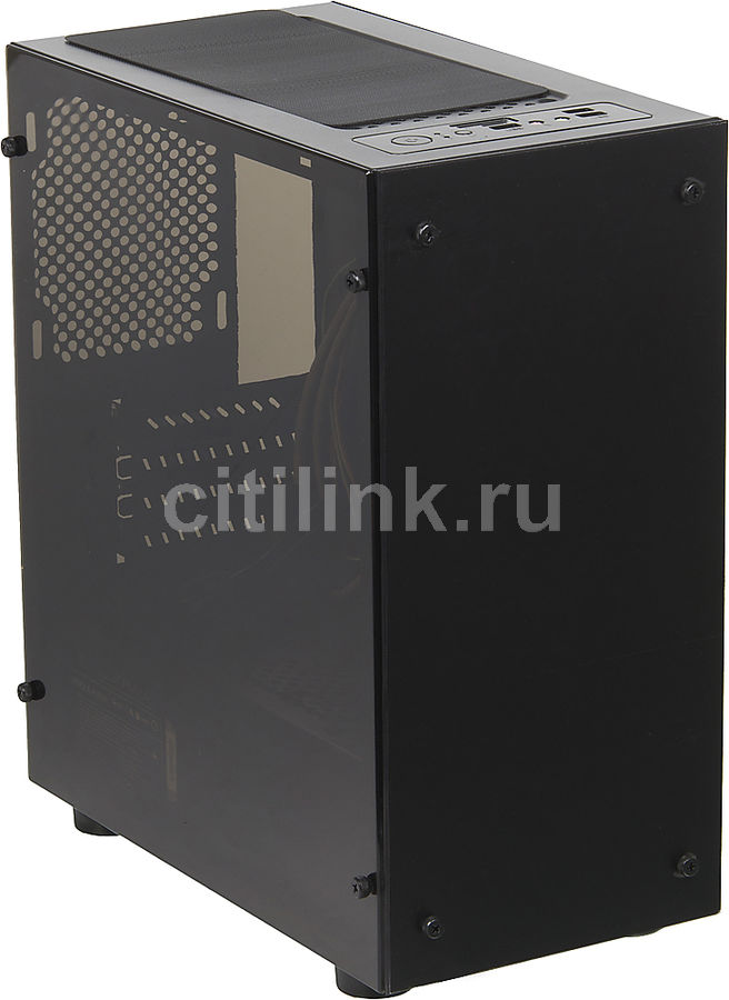 Корпус mATX FORMULA FA-703B, Mini-Tower, 500Вт, черный корпус matx fractal design define mini c tg mini tower без бп черный