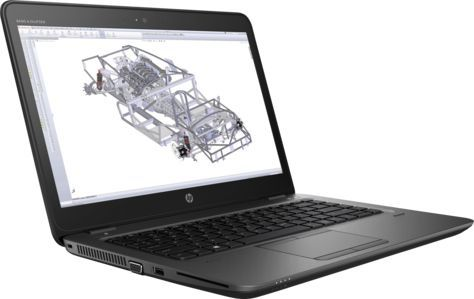 Ноутбук HP ZBook 14U G4, 14, Intel Core i7 7500U 2.7ГГц, 8Гб, 256Гб SSD, AMD Radeon W4190M - 2048 Мб, Windows 10 Professional, 1RQ82EA, черныйНоутбуки<br>экран: 14;  разрешение экрана: 1920х1080; тип матрицы: SVA; процессор: Intel Core i7 7500U; частота: 2.7 ГГц (3.5 ГГц, в режиме Turbo); память: 8192 Мб, DDR4; SSD: 256 Гб; AMD Radeon W4190M - 2048 Мб; WiFi;  Bluetooth; DisplayPort; WEB-камера; Windows 10 Professional<br><br>Линейка: ZBook